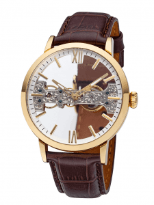 Rose gold skeleton mans luxury watches
