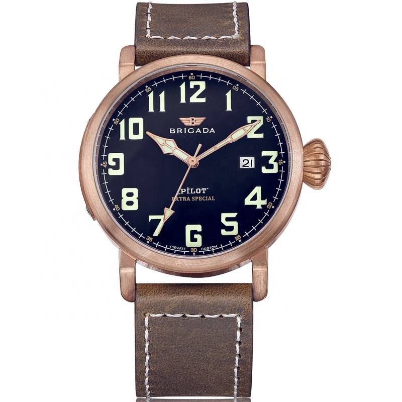 Zenith Quality Bronze Luminous Swiss Movement Pilot watch Featured Image