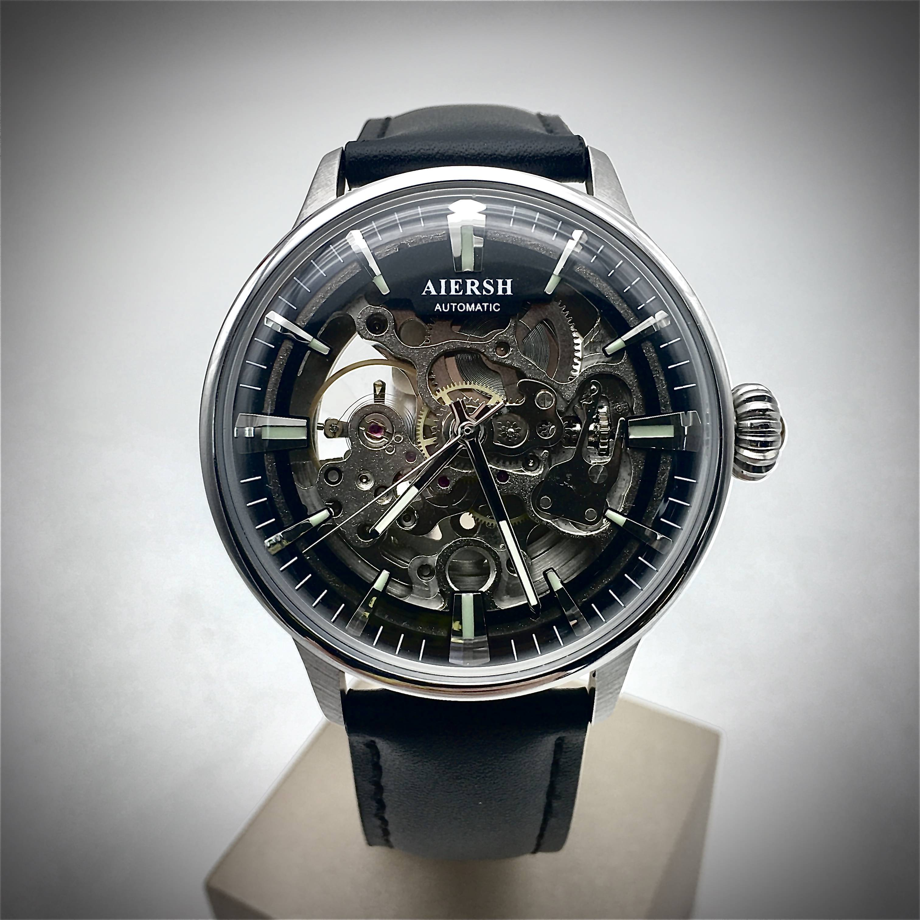 OEM unique wrist watch design for man skeleton automatic type