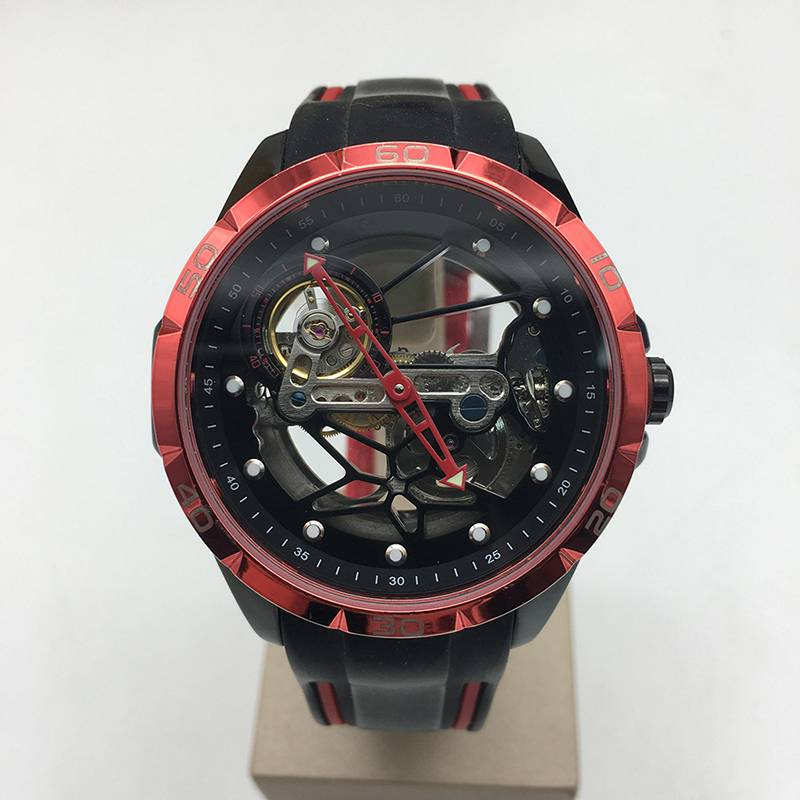 2021 new design man type fashion Cyberpunk feeling skeleton automatic watch