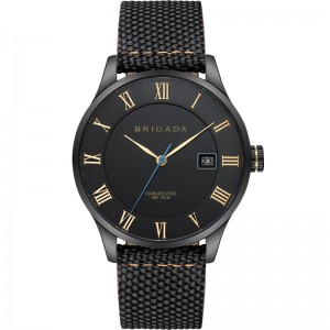 Men's Gender ALL black dial leather watch