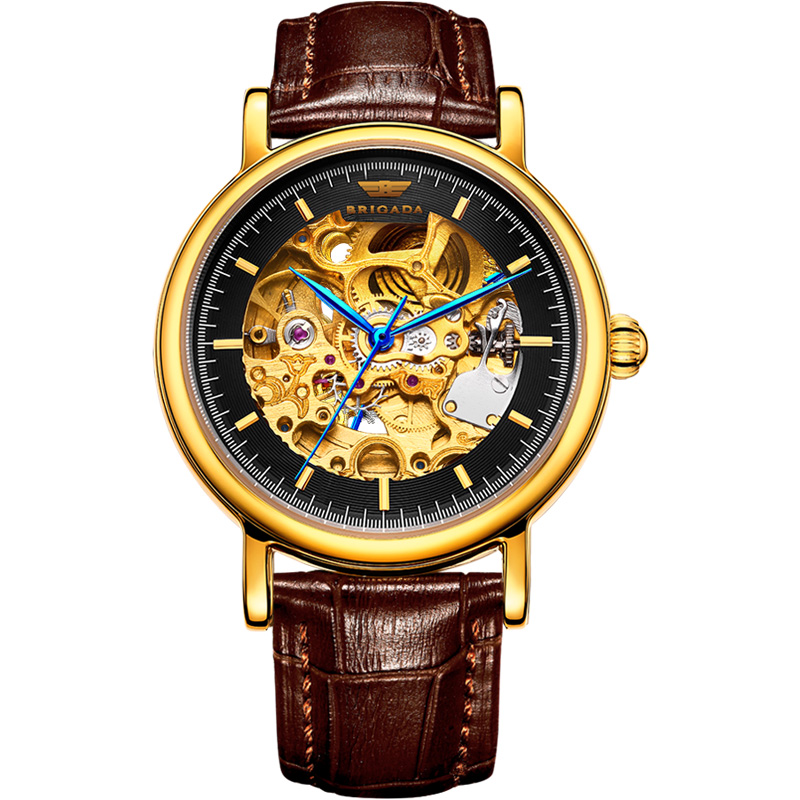 2019 Best Selling Automatic Mechanical Luxury Skeleton Wrist Watch for Men Featured Image