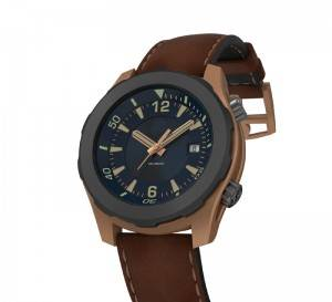 Abyss bronze automatic diving watch with 1000 meters