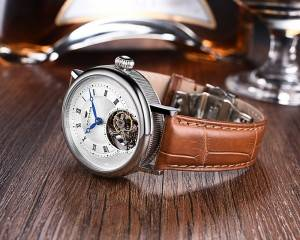 Flying automatic hollow mechanical skeleton mechanical watch for man