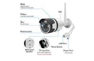 WIFI outdoor ip cameras waterproof OEM