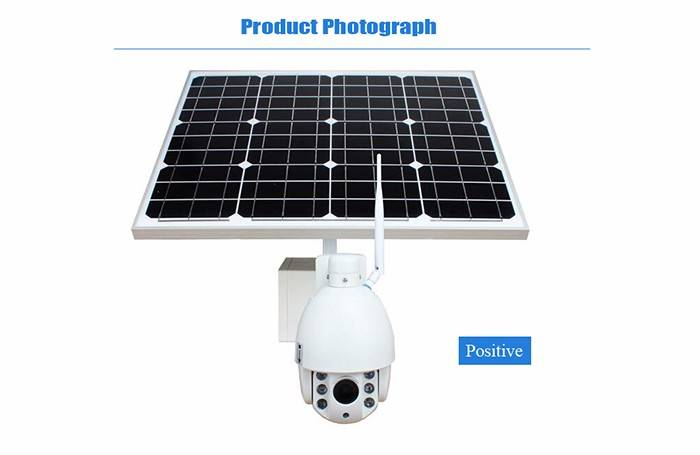 solar power wireless ptz ip camera ODM