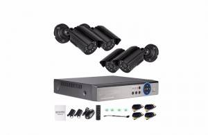 4ch AHD dvr camera system security OEM
