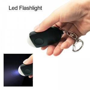 SOS Button 130db LED Flashlight security personal alarm