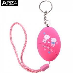 Manufactur standard Alarm Personal Panic - Anti-attack anti-wolf emergency personal alarm Keychain Cartoon printing for woman kids girls elderly alarm panic alarm – Ariza