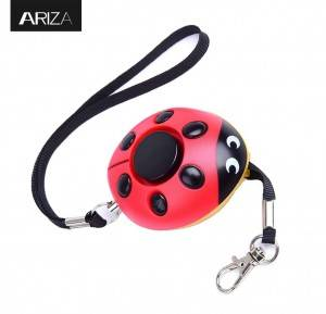 Classic ladybug personal alarm keychain with LED flashlight Personal Alarm Keychain Women Self Defense panic Alarm