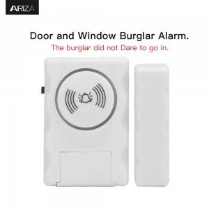 115 Alarm Decibel ose Hyrja Chime Indoor Security Personal tastierës Activation Wireless Door Alarm