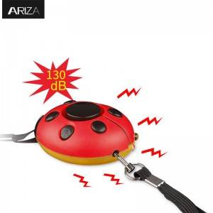 130DB Safety Emergency Personal Alarm KeyChain Ladybug-Shaped Siren Voice Self Defense Keyring with LED Light,Security Lovely alarm for Women/Kids/Elderly Protection