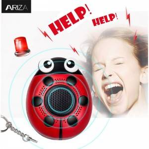 LED light Emergency Personal Alarm keycain Self Defense panic Alarm women help sound alarm
