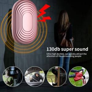 OEM factory Self Defense and Safesound Security Emergency personal alarm devices with Led Light
