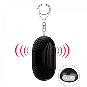 Women Kids Elderly Multi Colors 130 DB LED Light Key Chain Self-Defense Security Personal Alarm Purse Alarm