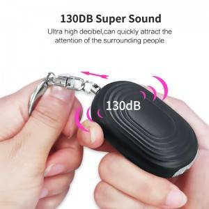 Led Flashlight Emergency Siren Personal Alarm With Key chain