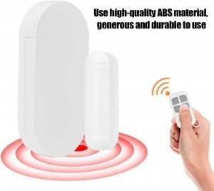 2020 best selling Smart 433 remote control magnetic burglar alarm system anti theft door sensor alarm wireless