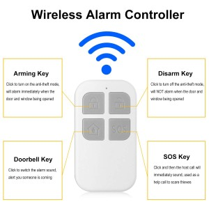 Wireless Door Alarm with Remote Control Magnetic Sensor Door and Window Alarms for DIY Home