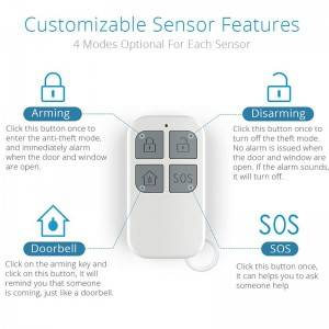 House alarm security system 130db doorbell wireless door remote sensor alarm magnet window alarm with Chime