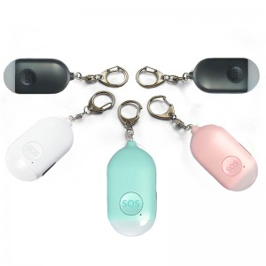 Ladies Elderly Kids anti attack emergency sos rechargeable personal security alarm keychain led light personal attack alarm