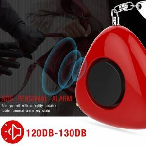 Self Defense Safety Emergency System 130db small portable portable hand held siren horn LED Keychain Personal Alarm