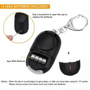 Women's personal safety sound alarms keychain 130 high db self defense alarmas personales
