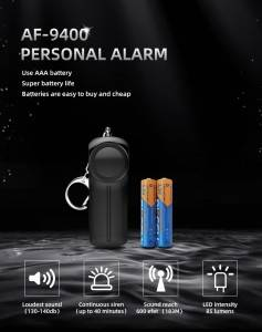2020 new design personal alarm devices for women anti rape emergency sos personal security alarm
