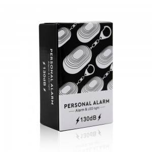 Amazon top selling self defense OEM factory price personal safety alarm devices with led light
