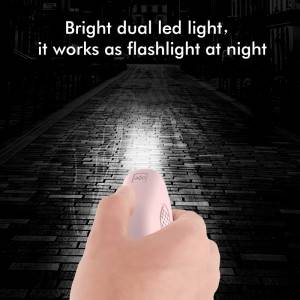 bright led flashlight 125db emergency personal alarm usb recahrgeable women self defense safety alarm personal