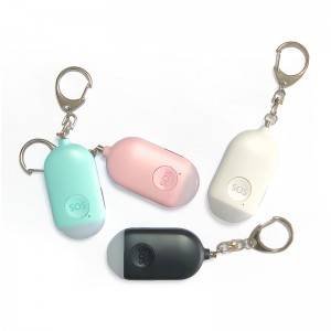 Wholesale 130dB Scream Sound Personal Anti Rape Security Self Defense Alarm with LED Flashlight