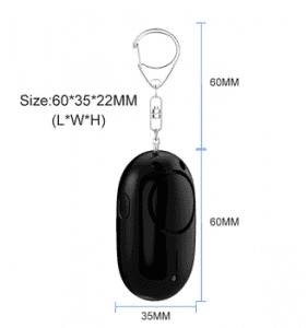 130dB Black Color Siren Sound Pull String Personal Alarm