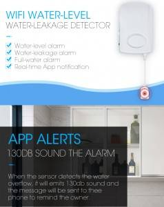 Smart Home Wifi Bathroom Water Leakage Alarm Detector