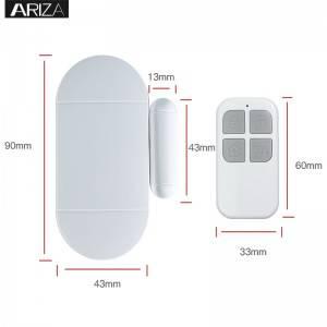 China OEM Door Window Remote Control Smart Home Security Alarm Warning System With Magnetic Sensor Alarm Wireless Siren Detector Alarm