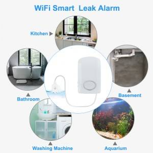 TUYA app gsm wifi alarm system real time 130db wifi control water leak detector