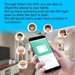Smart wireless alarm system home security magnetic door alarm sensor with tuya smart app