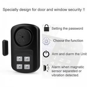 Reliable Supplier Meinoe Home Security Front Door Alarm Sensor With Siren Door Alarm Sensor Wireless