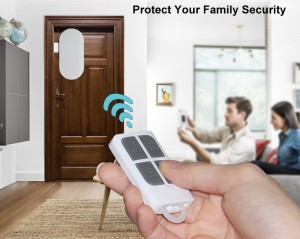 Wireless Magnetic Sensor Home Security Alarm System DIY Kit with remote control