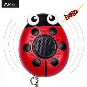 130DB SOS with siren song voice Ladybug Emergency Personal alarm keychain,Protection Device with speaker or electric torch for kids/elderlies and adults