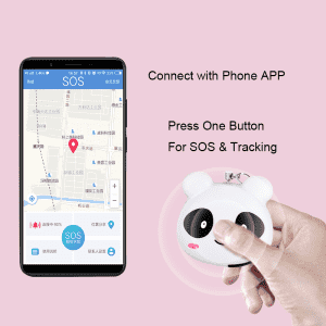 Smart SOS personal security alarm with tracking function and  emergency contact call voice message