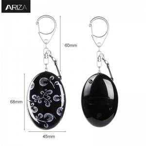 Shenzhen Factory Persoanlike Alarm Self ferdigening Keychain Safe-Sound modulated 120db oant 130 db Loud Emergency foar Âlderein Kids Woman Family Anti-Theft