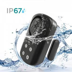 Waterproof Swimming Pool Outdoor 433mhz wireless door sensor 140DB anti theft Remote Control keypad magnetic door sensor