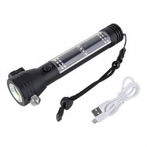High Power Self Defence Flashlight Baton Tactical Torch rechargeable Security led  weapons torch flashlight