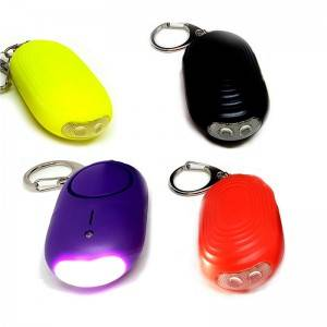 Personal alarm device women anti rape 130db Portable personal alarms for seniors led light safety alarm keychains
