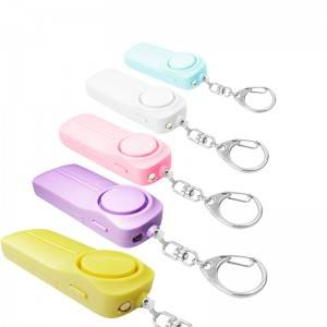 2020 amazon top selling sos emergency personal alarm 130db aaa battery led women self defense personal alarm keychain