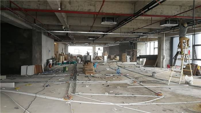Construction of Airwoods HVAC Oversea Department New Office