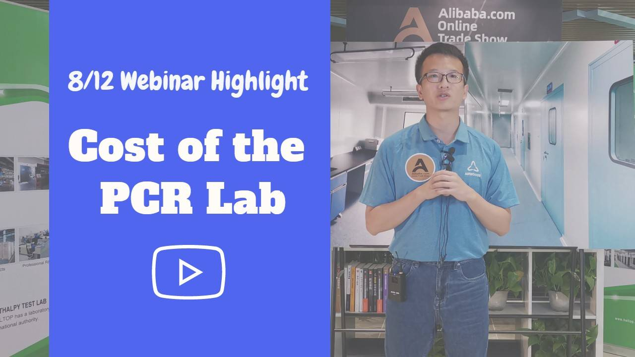 Cost of the PCR lab room – 8/12 Airwoods Webinar Hightlight