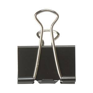 Black Binder Clips in Tub
