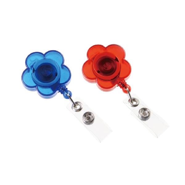 Personlized ProductsLineal Binder Clips - Flower Retractable ID Card Reel with PVC Strip – Aiven