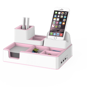 Wireless Charging Desktop Organizer