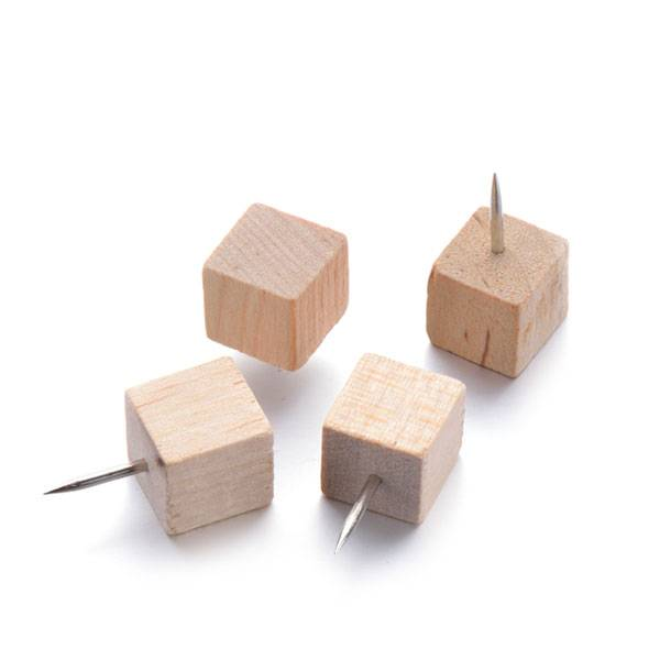 Popular Design for Desktop Container Manufacturer - Square Wood Push Pins – Aiven